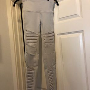 Ali Moto high waist ice/gray leggings xs